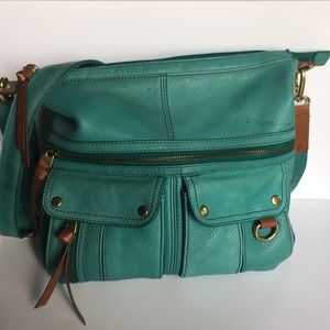 Fossil turquoise crossbody bag